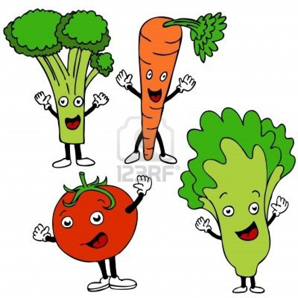 Healthy People Eating Clipart.