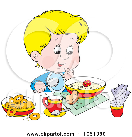Eating healthy foods clipart.
