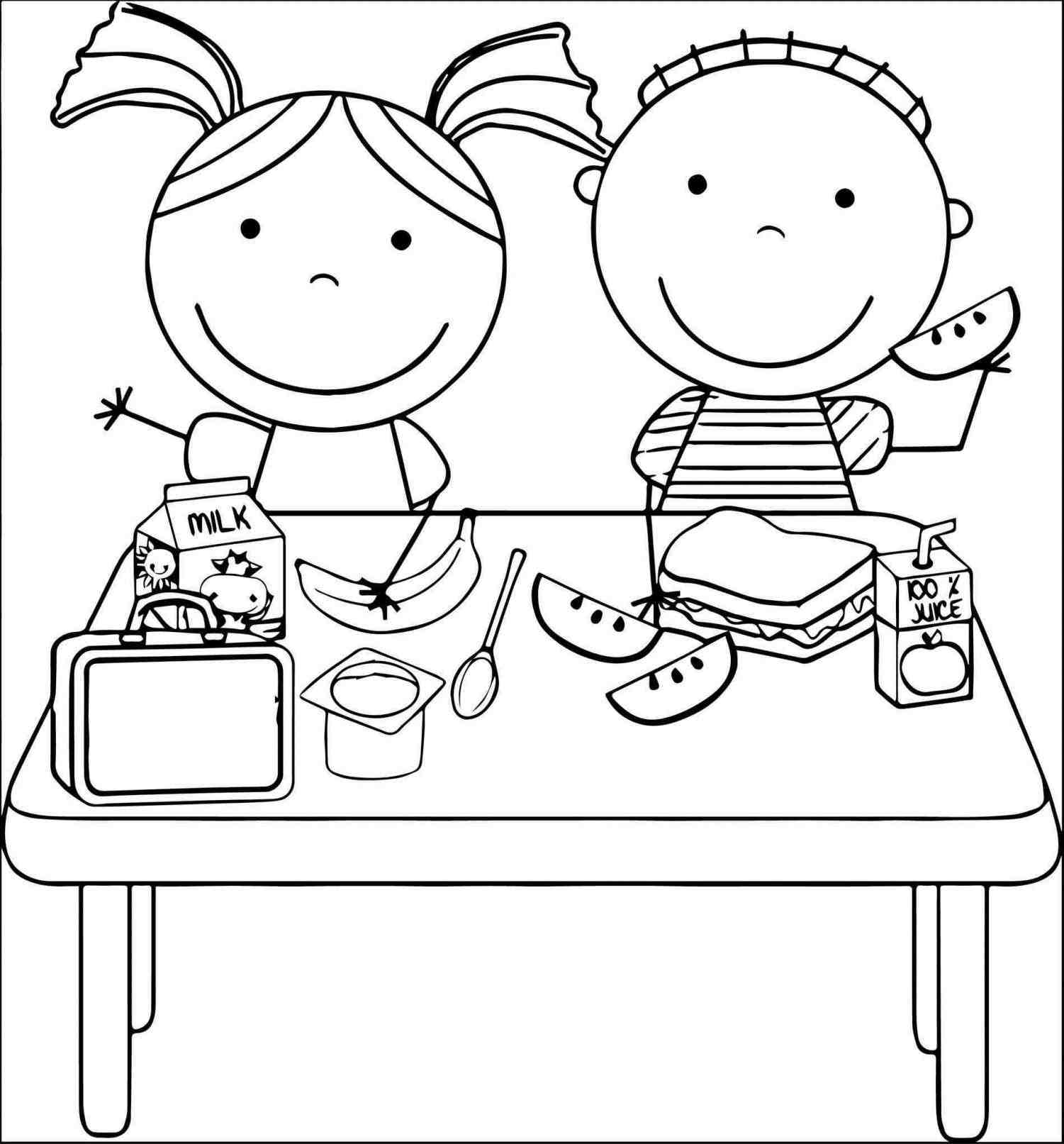 Eat Food Clipart Black And White healthy food » Clipart Station.