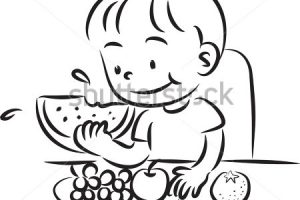 Eating healthy food clipart black and white 1 » Clipart Station.