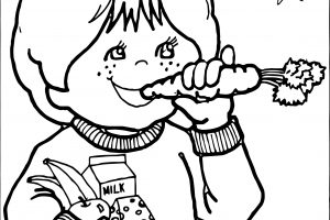 Eating healthy foods clipart black and white 3 » Clipart Station.