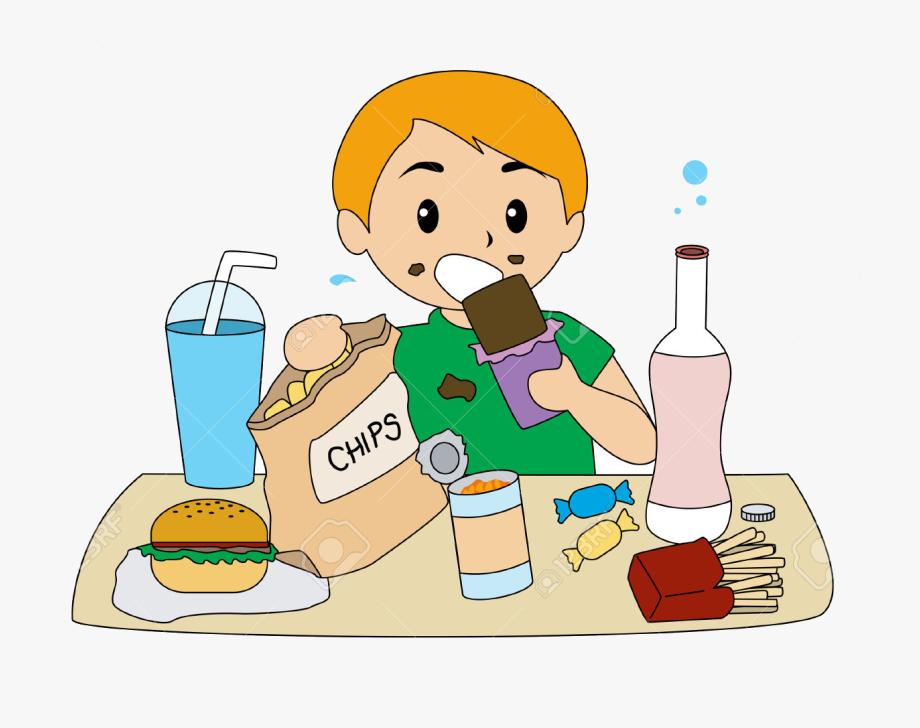 Kid Eating Healthy Food Clipart , Transparent Cartoon, Free.