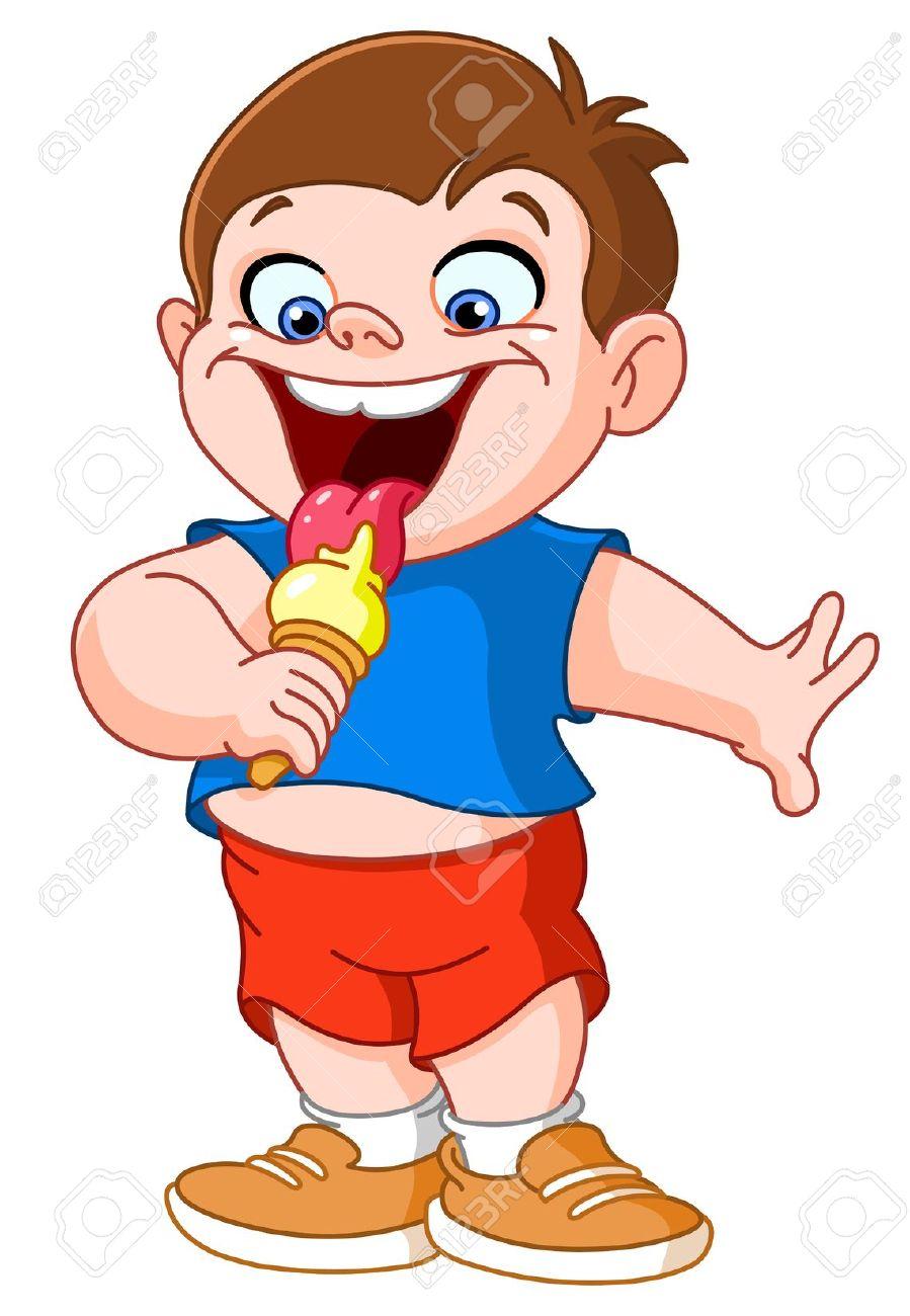Eat ice cream clipart.