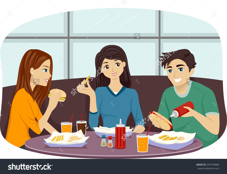 Showing post & media for Cartoon eating restaurant.