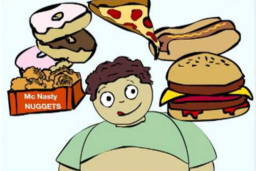 Easy tips to discourage kids from eating junk food.