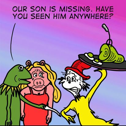 Kermit Eating Pork: George Ford Guest Cartoon.