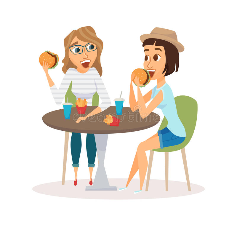 Friends Having Lunch Clipart.