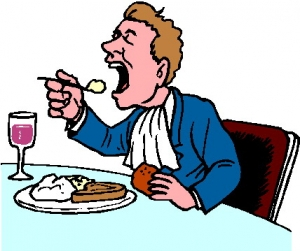 Man Eating Clipart.