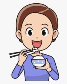 Man Eating Rice Medium.