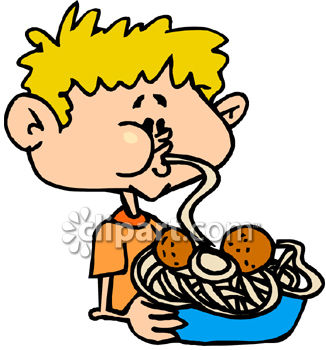 Eating Spaghetti Clipart.