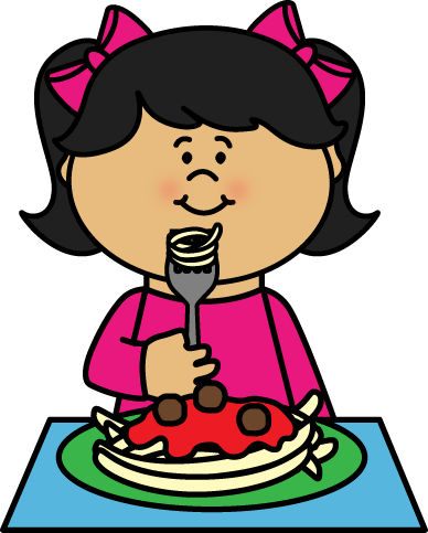 Eating Pasta Clipart.