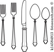 Eating utensil Clip Art Vector Graphics. 8,394 eating utensil EPS.