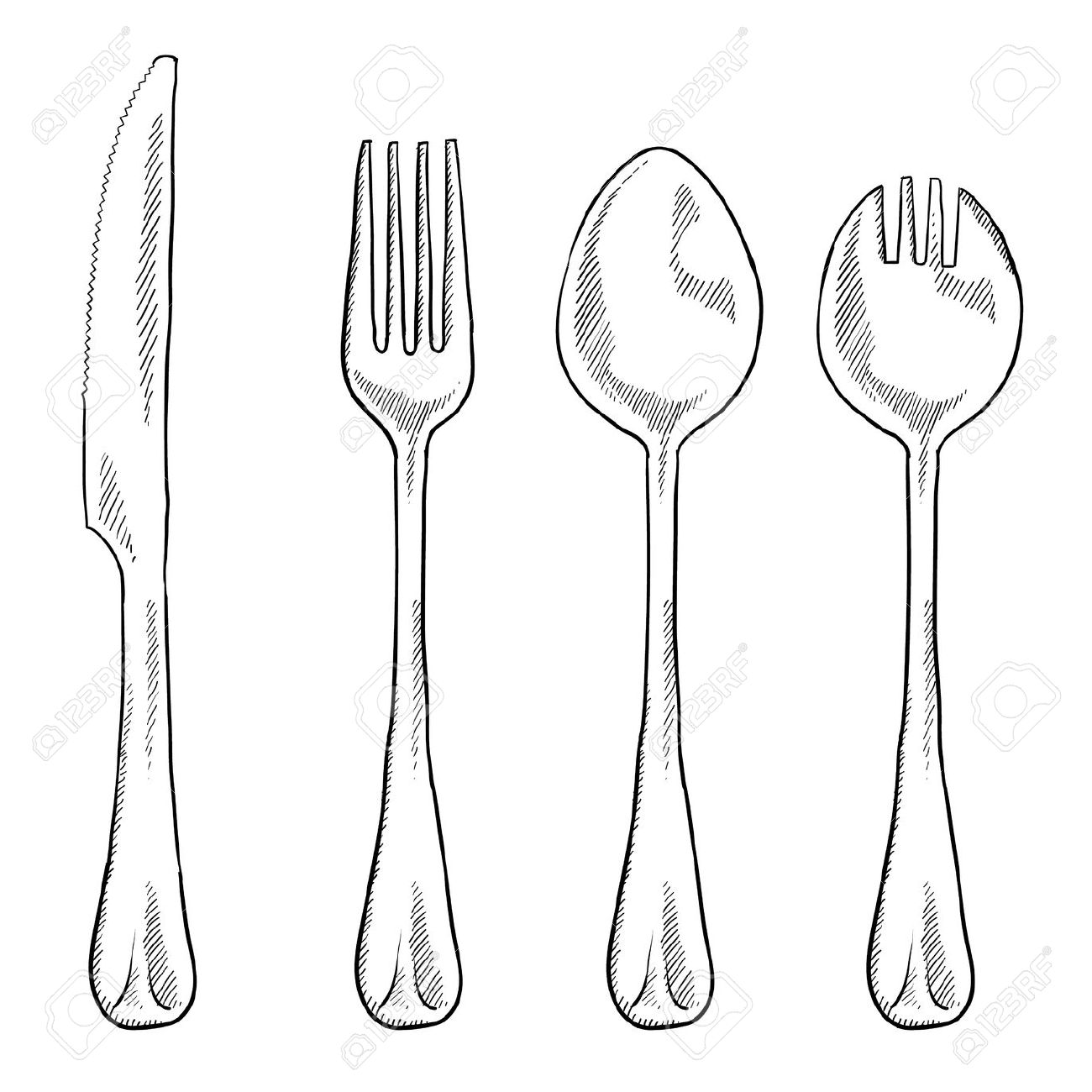 Clipart of table utensils.