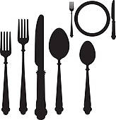 Eating Utensils Clip Art.