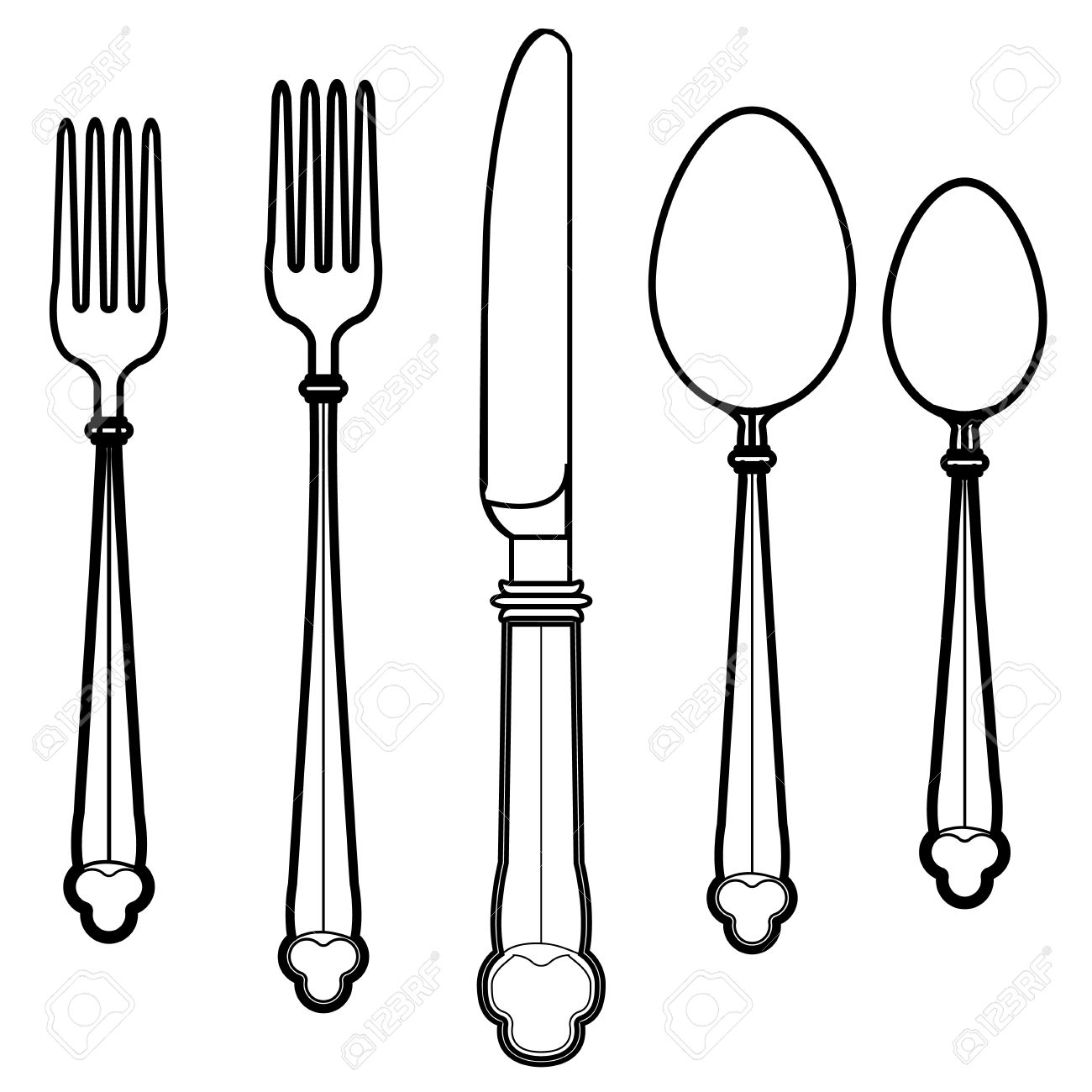 Eating Utensils Vector Royalty Free Cliparts, Vectors, And Stock.