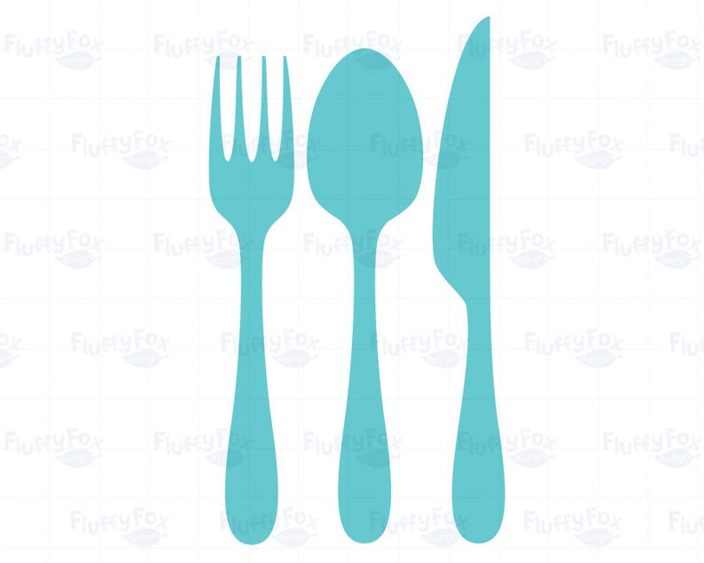 Cutlery Clipart, Eating Utensils, Silverware, Spoon Knife Fork Kitchen Food  Meal Dinner Dining Icon Clip Art Rainbow, Commercial Use.