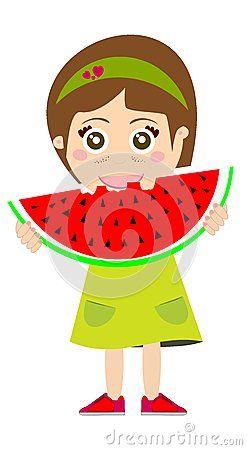 Kid Eating Watermelon by Libux77, via Dreamstime.