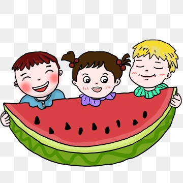 Children Eating Watermelon Png, Vector, PSD, and Clipart With.