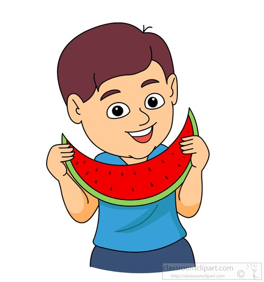 Cliparts Eat Watermelon.
