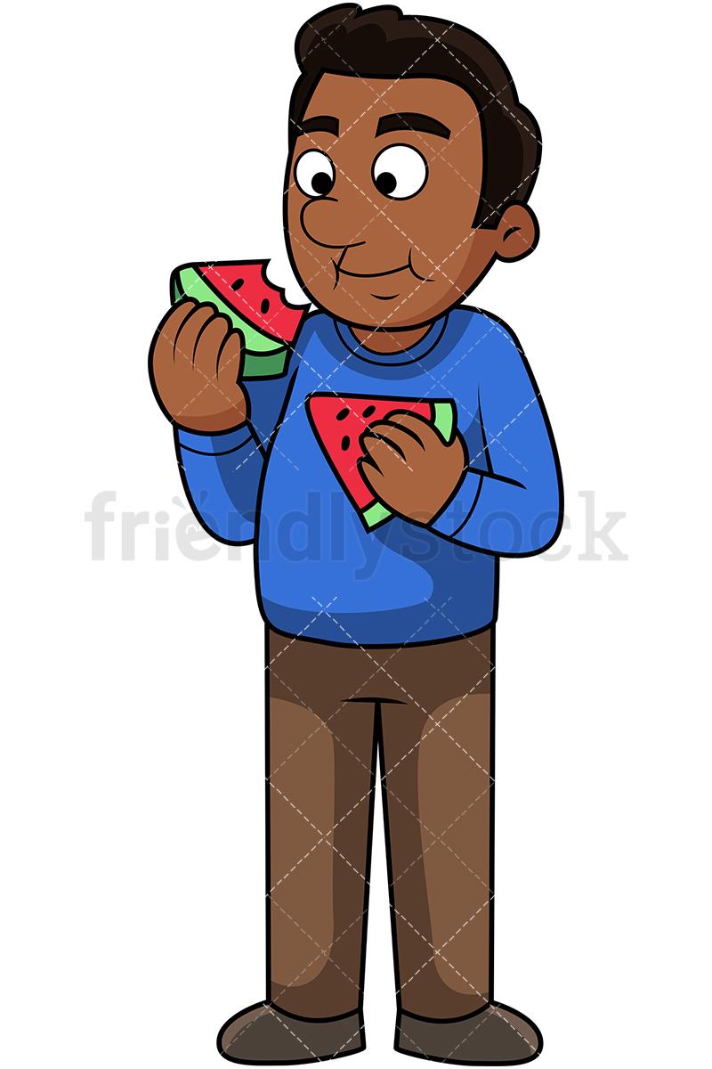 Black Man Eating Watermelon.