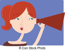 Eavesdropping Clip Art Vector and Illustration. 103.