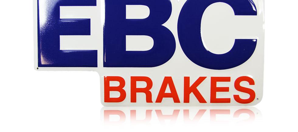 EBC Brakes Logo Retro Metal Sign.