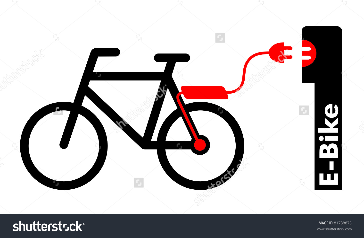 Symbol Electricassist Bicycle Ebike Stock Illustration 81788875.