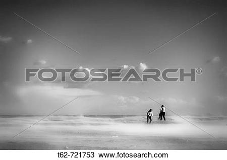 Stock Photo of Sand and Wind, Platja de El Trabucador. Ebro Delta.