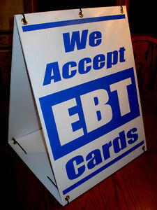 Details about WE ACCEPT EBT CARDS Sandwich Board Sign A.