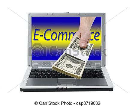 Clip Art of online business.