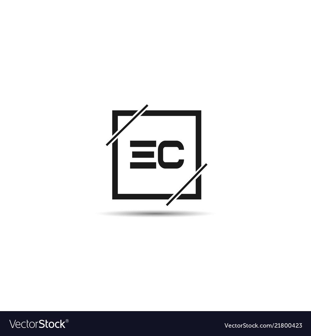 Initial letter ec logo template design.