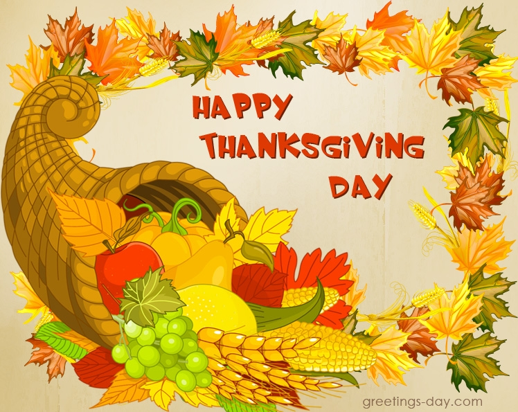 Thanksgiving Day Greeting Cards.