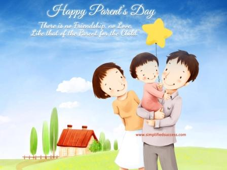Happy Parents Day 2015 Greeting Card, Ecard, Clipart, Sayings Image