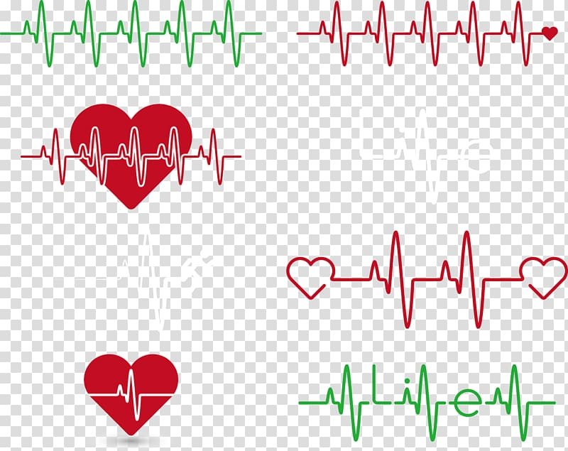 Life lines, Heart rate Electrocardiography, ECG lines Creative.