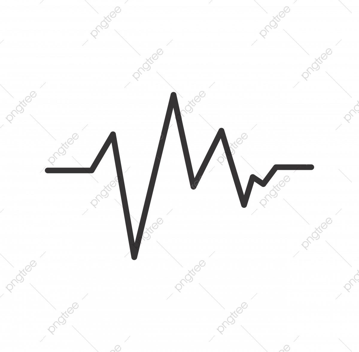 Ecg Line Black Icon, Ecg, Graph, Life PNG and Vector with.
