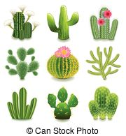 Echinocactus Vector Clipart Illustrations. 2 Echinocactus clip art.