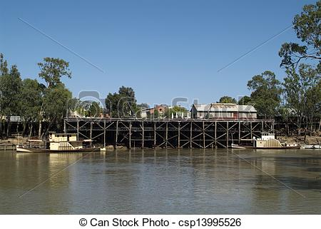Stock Photo of Australia, VIC, Echuca.