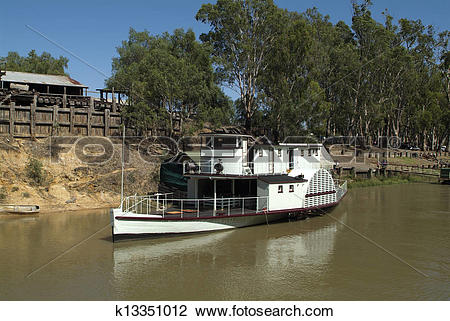 Stock Photo of Australia, paddle steamer on Murray river in Echuca.