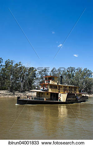 """Stock Photo of """"Old steamer on the Murray river, Echuca, Victoria."""
