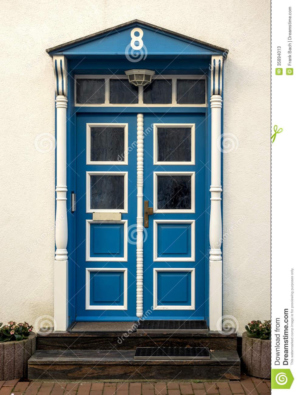 Eckernfoerde In Germany, Traditional Door Stock Photos.