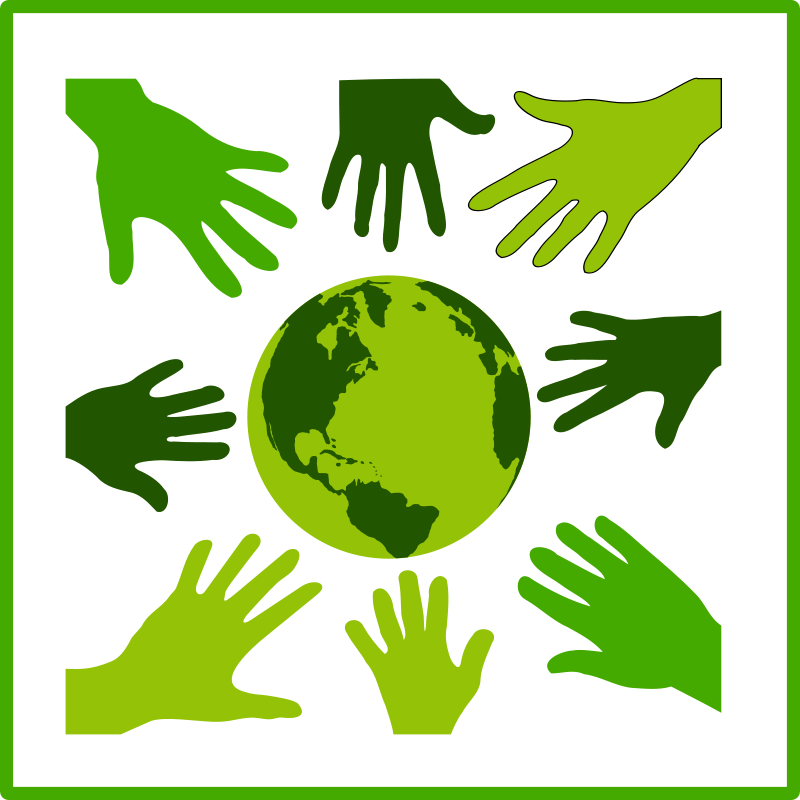 Free Clipart: Eco green solidarity icon.