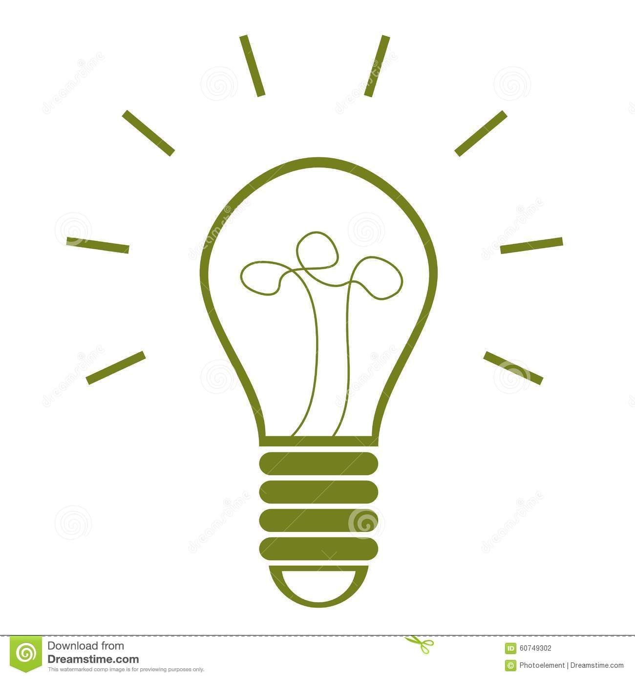 Green electricity bulb clipart.