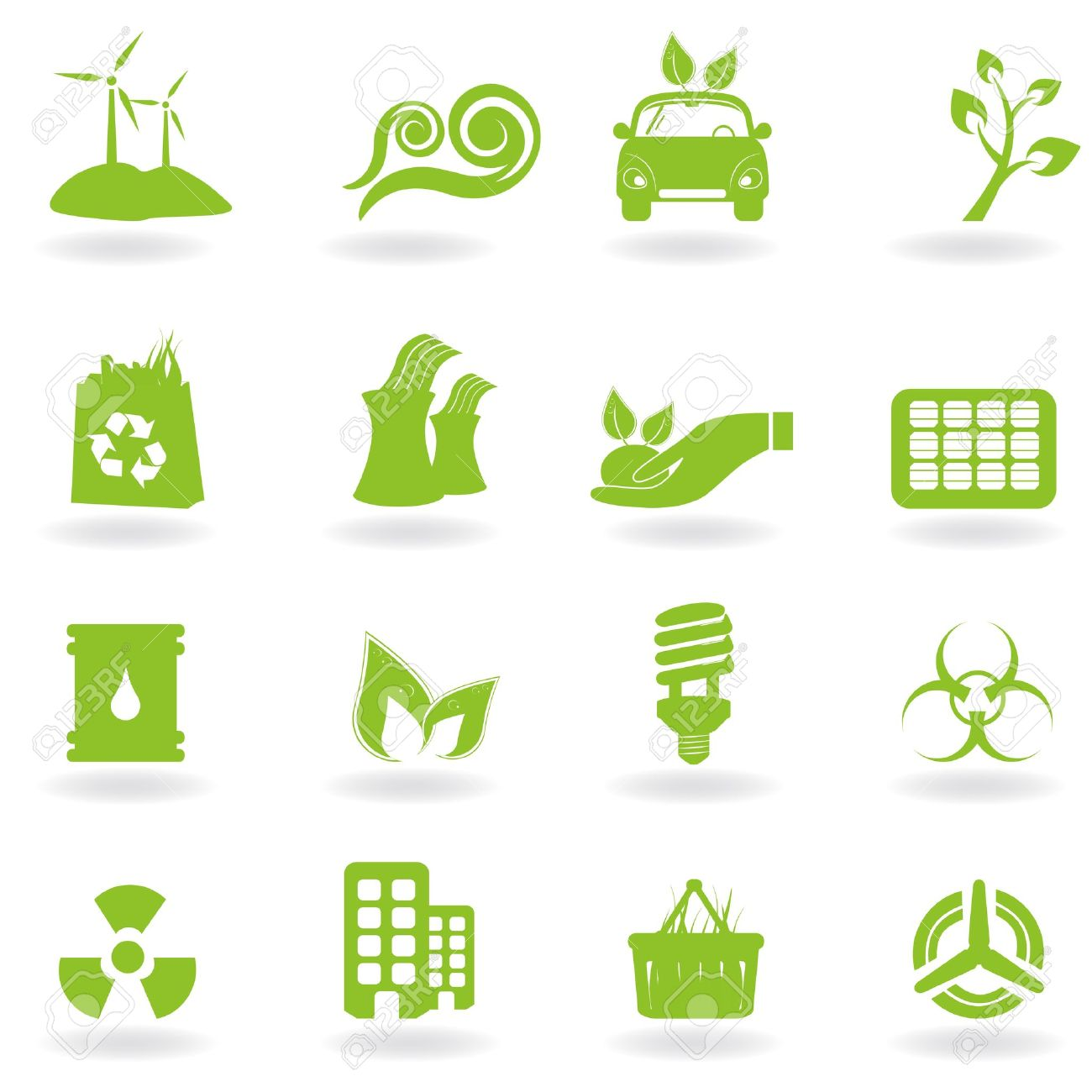 Eco And Green Environment Icons Royalty Free Cliparts, Vectors.