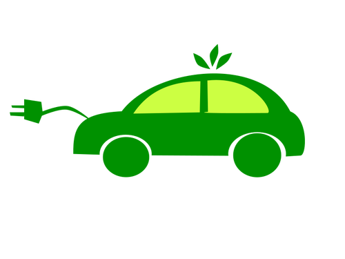 Electric car vector clip art.