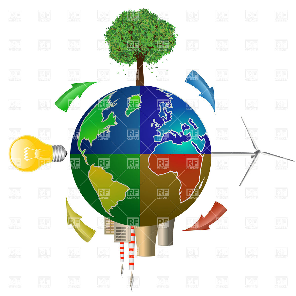 Eco energy concept.
