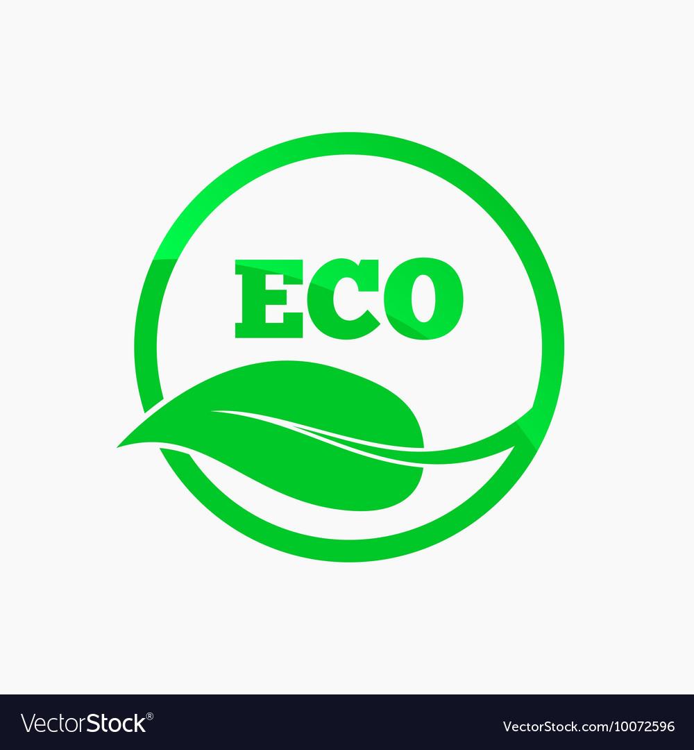 Eco logo Round organic symbol design.