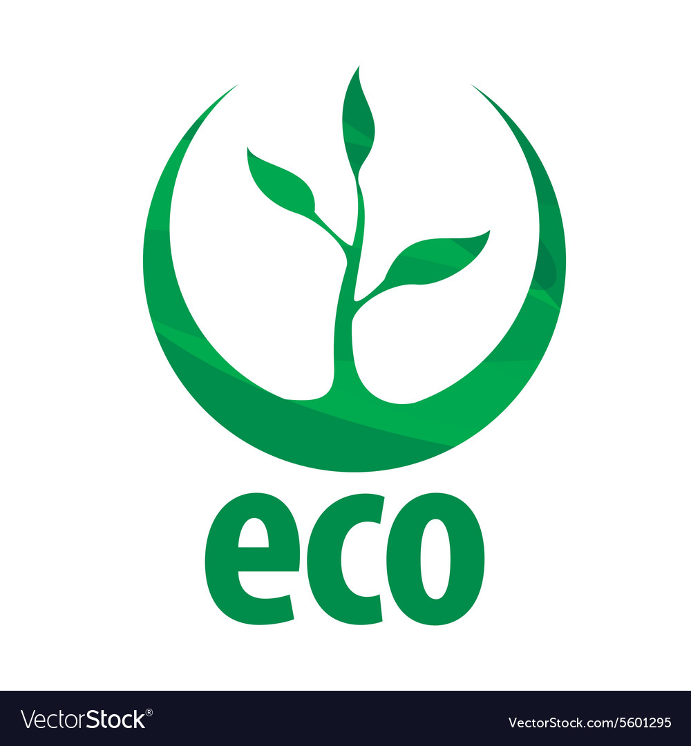 Eco logo with green sprout.