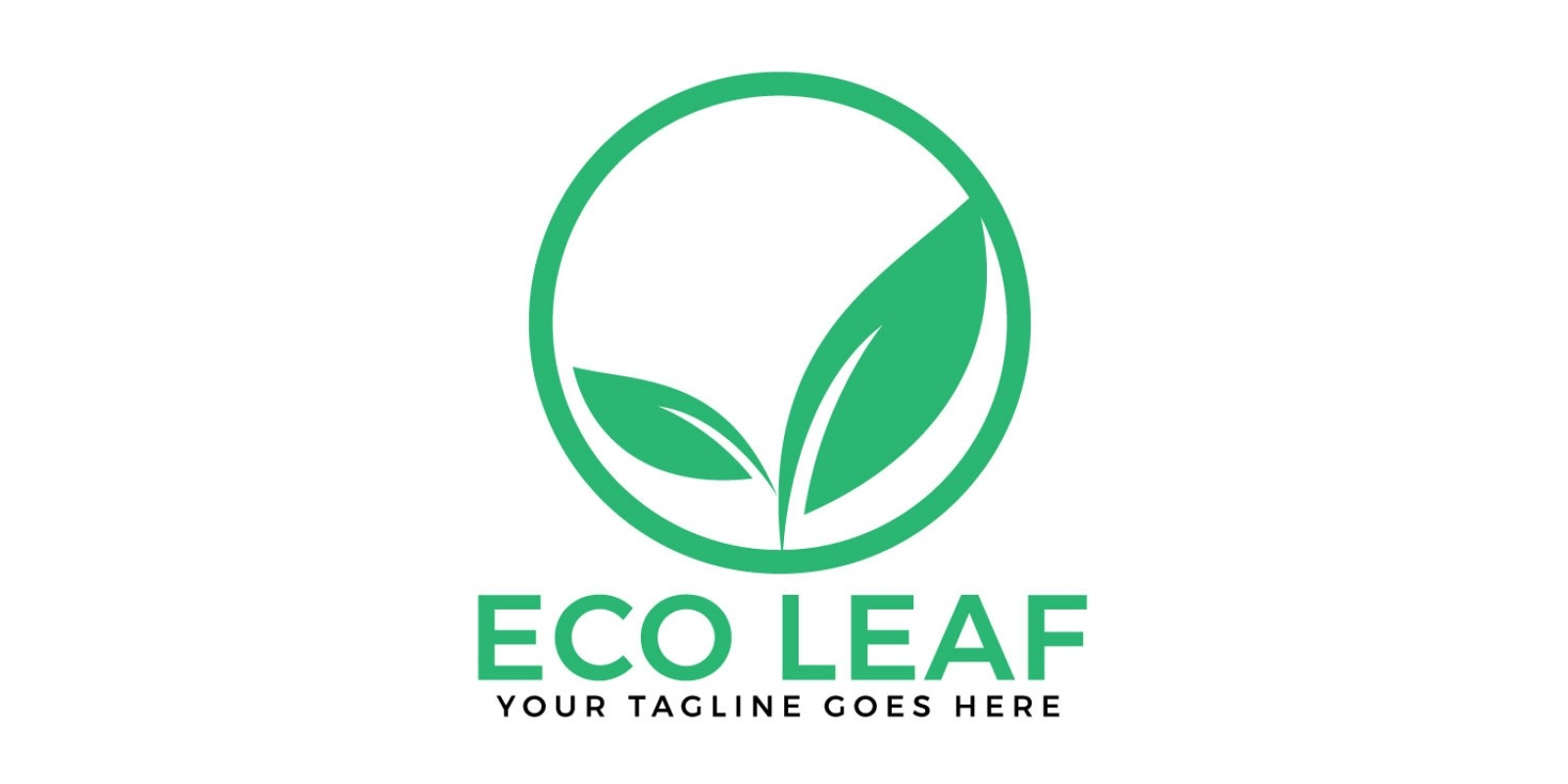 Eco Leaf Vector Logo Design.