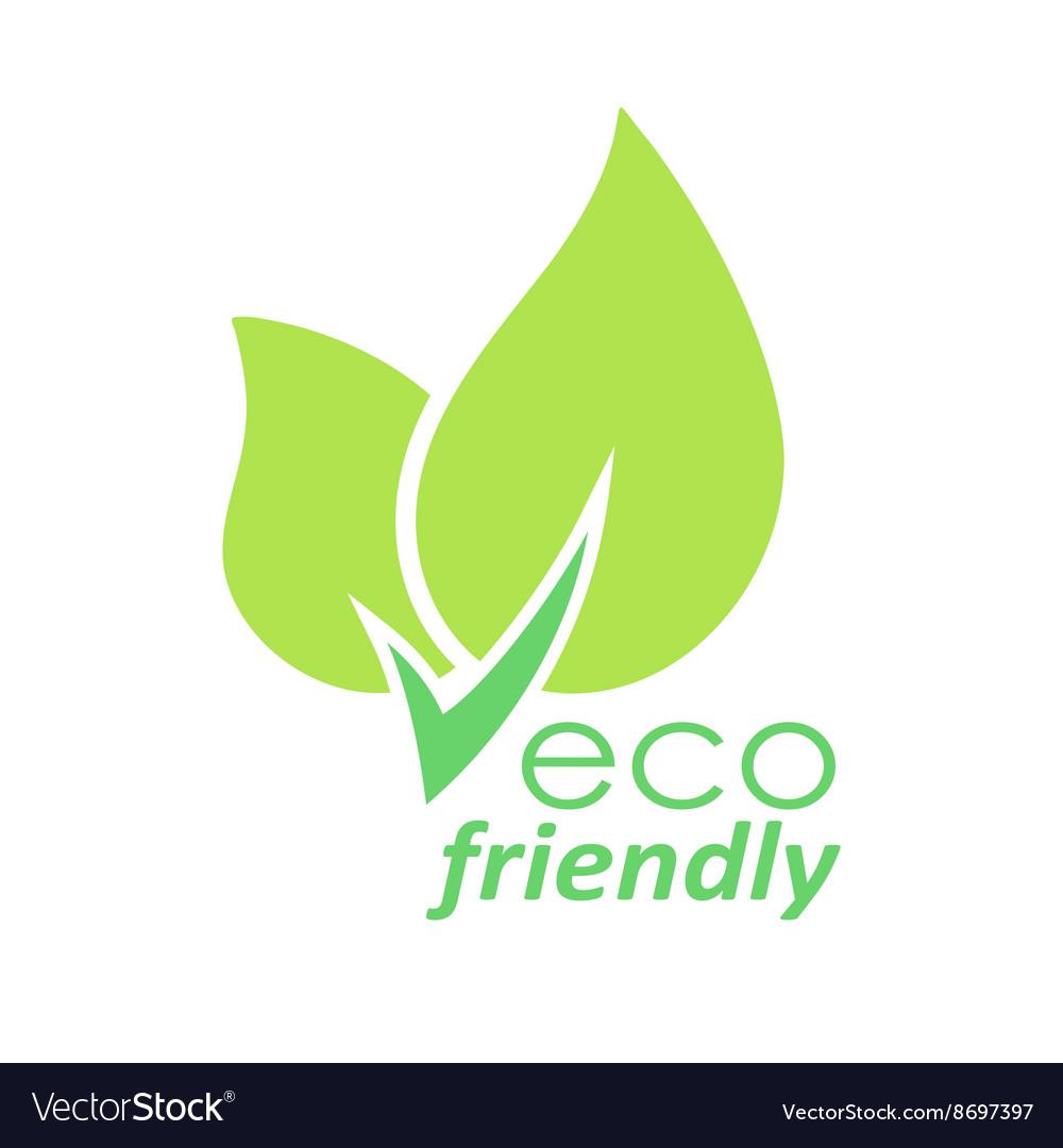 Eco friendly green leaves logo.