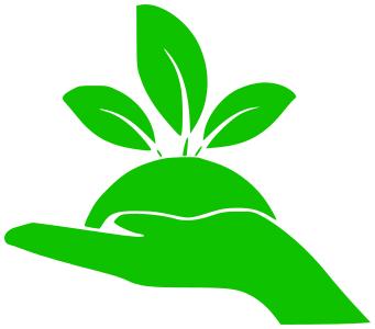 eco grow hand green.